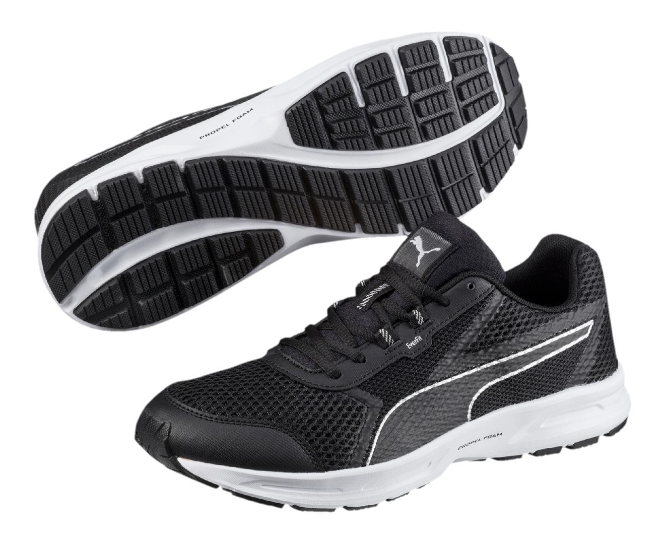 Mens Essential Runner Multisport Outdoor Shoes, Black/Silver Puma