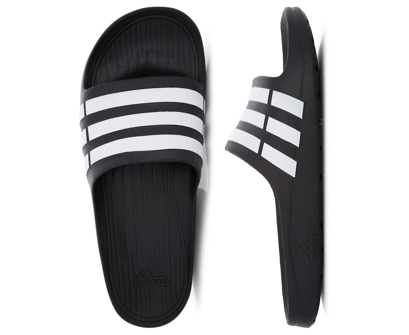 3da943173 Adidas Duramo Slide - Black White