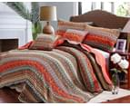 Luxury Quilted 100% Cotton Coverlet / Bedspread Set  King Size Bed 230x250cm Red 1