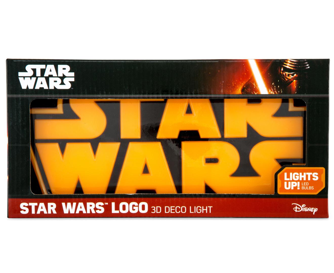 star wars logo 3d deco light ebay. Black Bedroom Furniture Sets. Home Design Ideas
