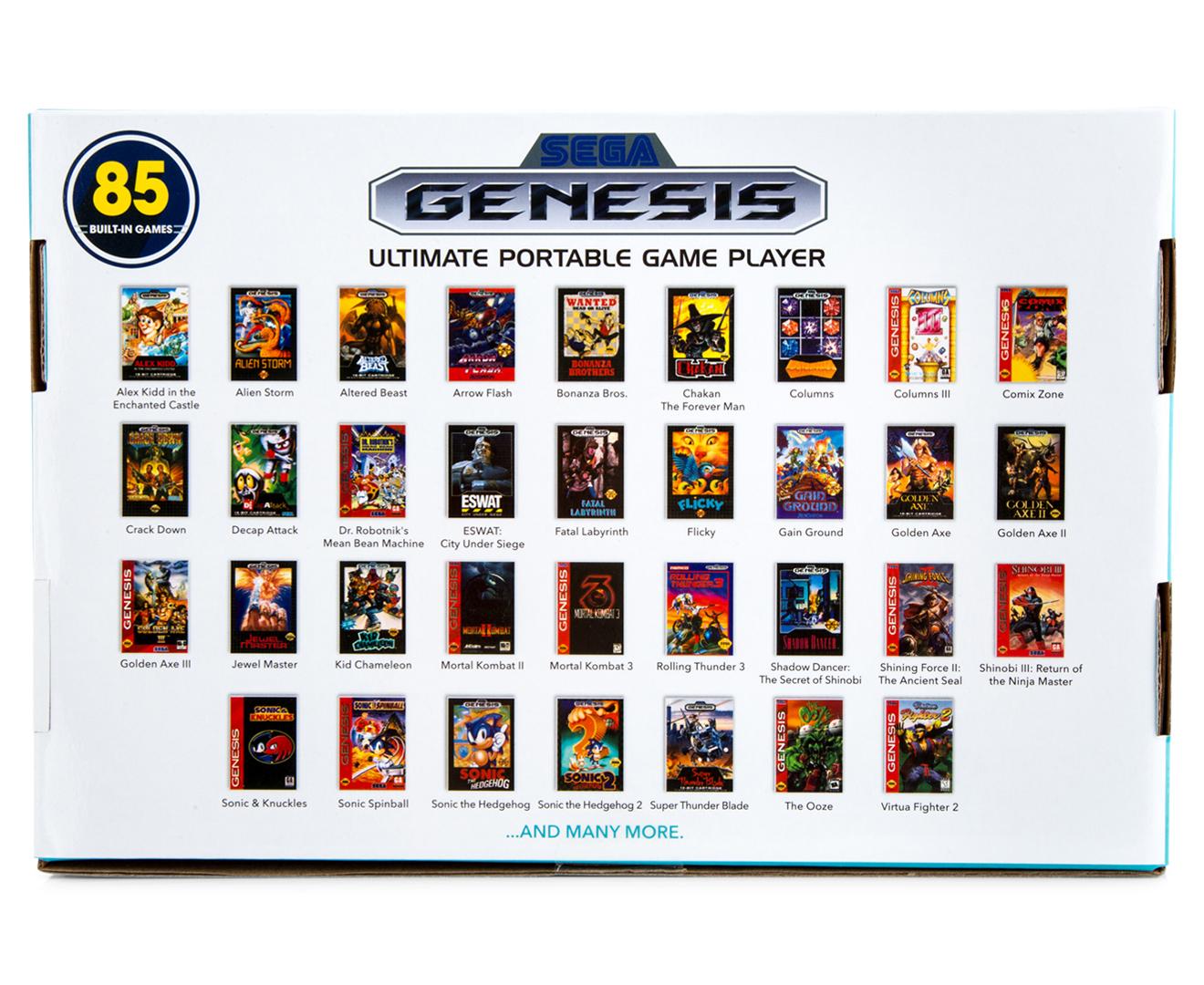 Sega Genesis Ultimate Portable Game Player, White, GP3228 ...