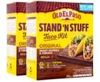 2 x Old El Paso Sweet Paprika & Tomato Stand 'n Stuff Taco Kit 295g 1