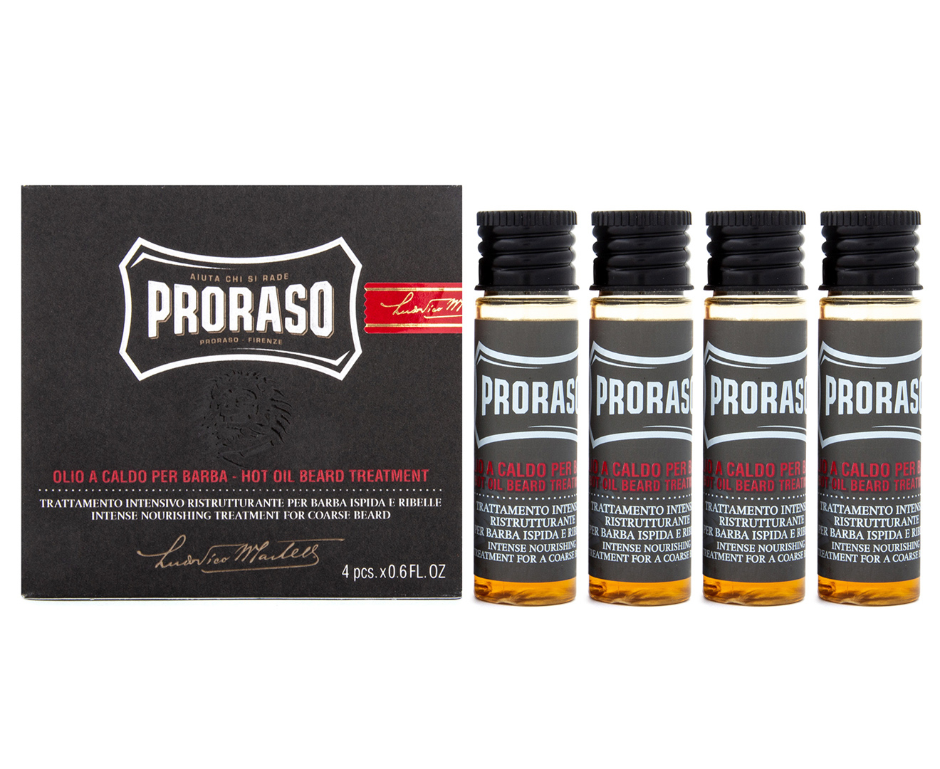Proraso Hot Oil Beard Treatment 4-Pack 17mL | Stay At Home Mum