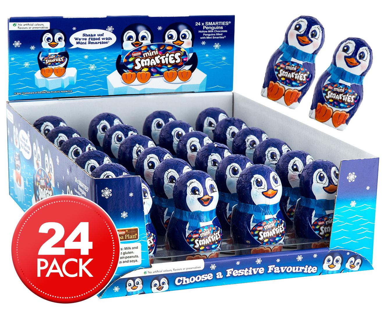 24 x Smarties Little Milk Chocolate Penguin 21g