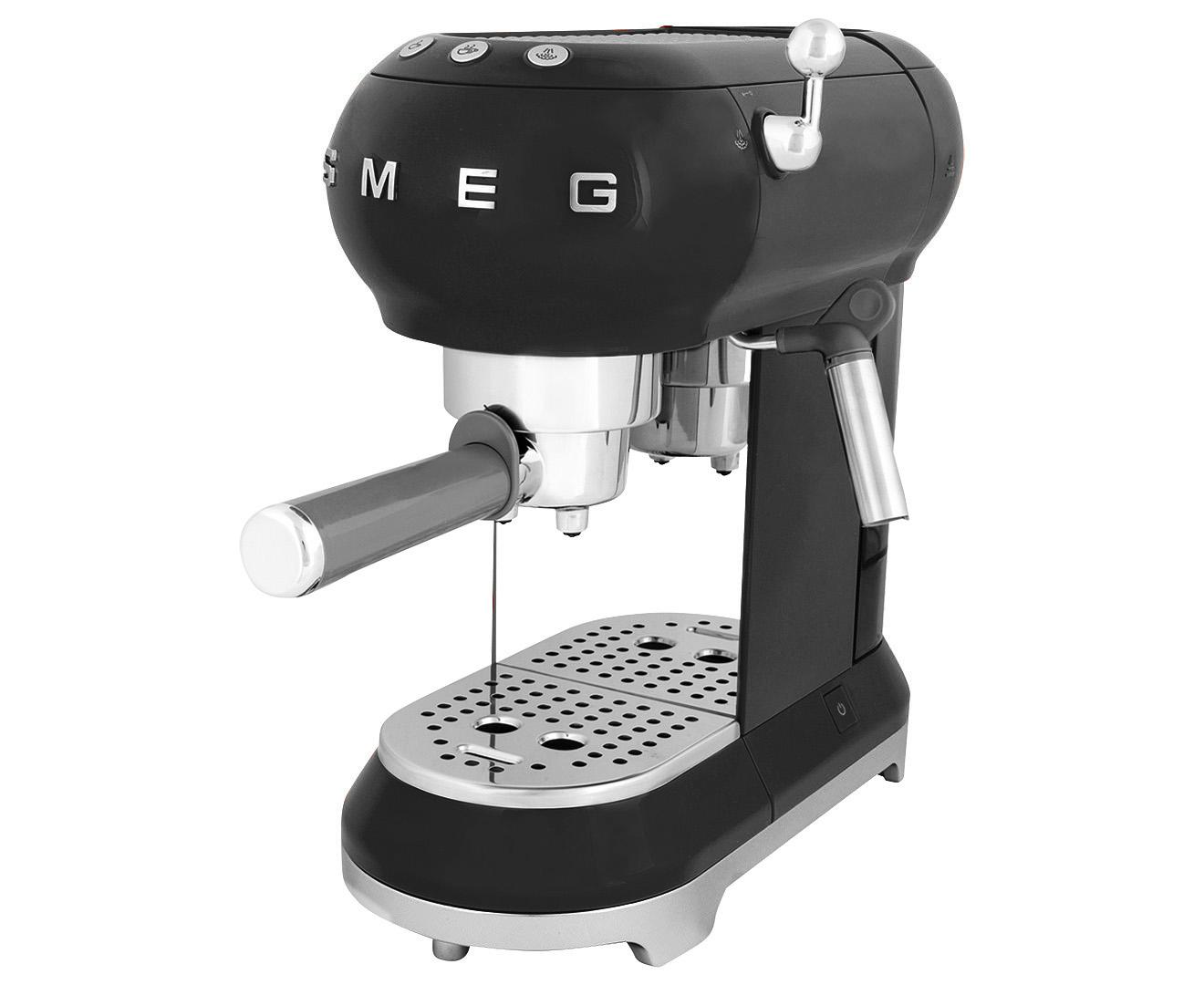 Smeg ECF01 Espresso Coffee Machine - Black 8017709229948 ...