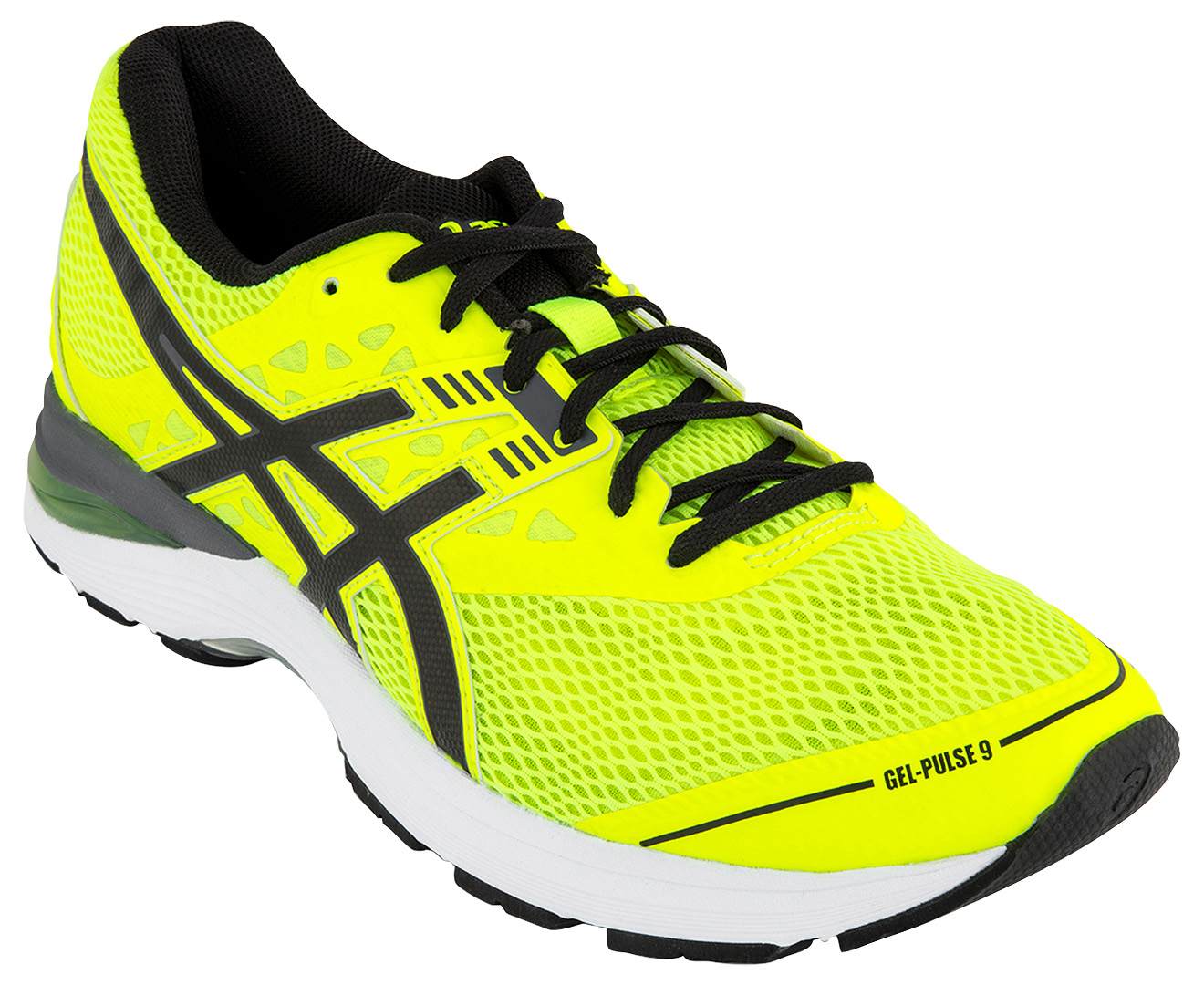 ASICS Men s GEL-Pulse 9 Shoe - Safety Yellow Black Carbon  38ae27b184c92