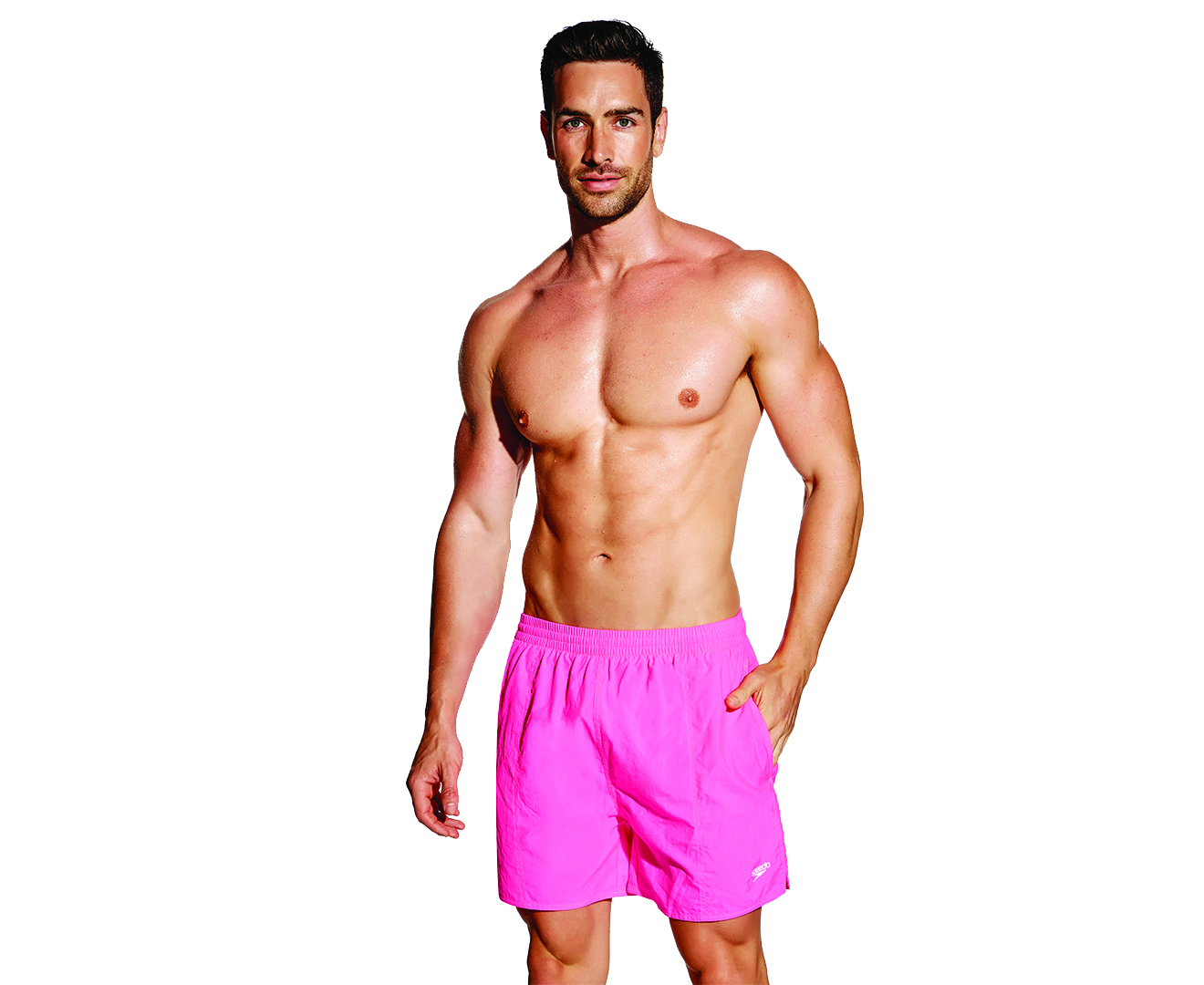 Speedo Men's Flip turns Jammer Pro Lt Swimsuit, 26, Purple/Pink Step out on the deck in style. Part of Speedo 's Flip turns collection, this bold training swimsuit is constructed of ProLT fabric for outstanding comfort and swim after swim.