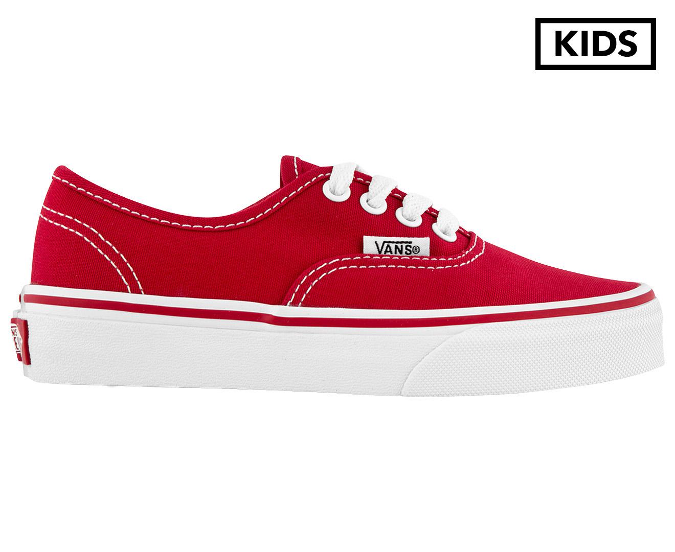 a06e6654228167 Vans Kids  Authentic Shoe - Red True White