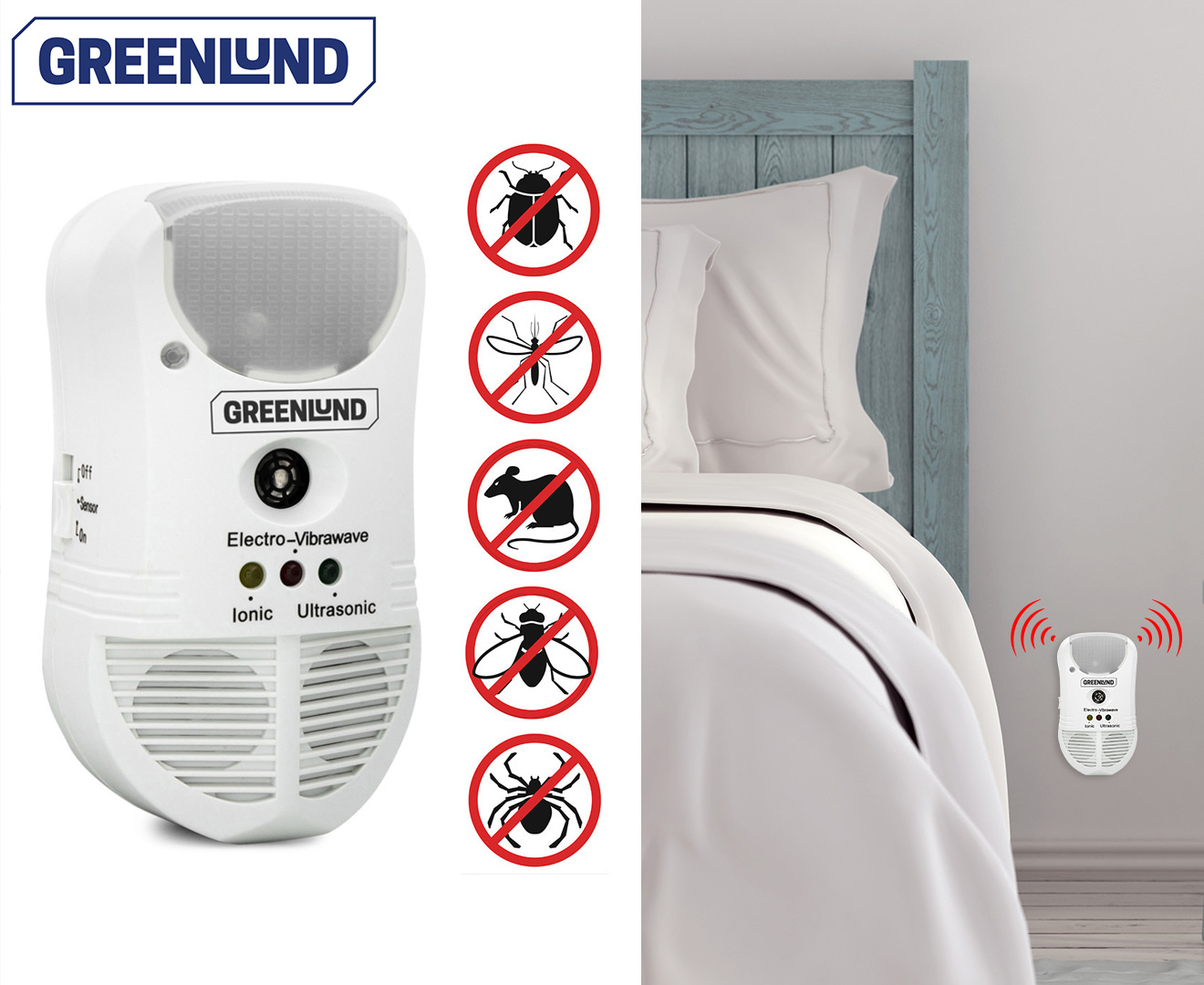 Greenlund 4 in 1 Ultrasonic Pest Repeller