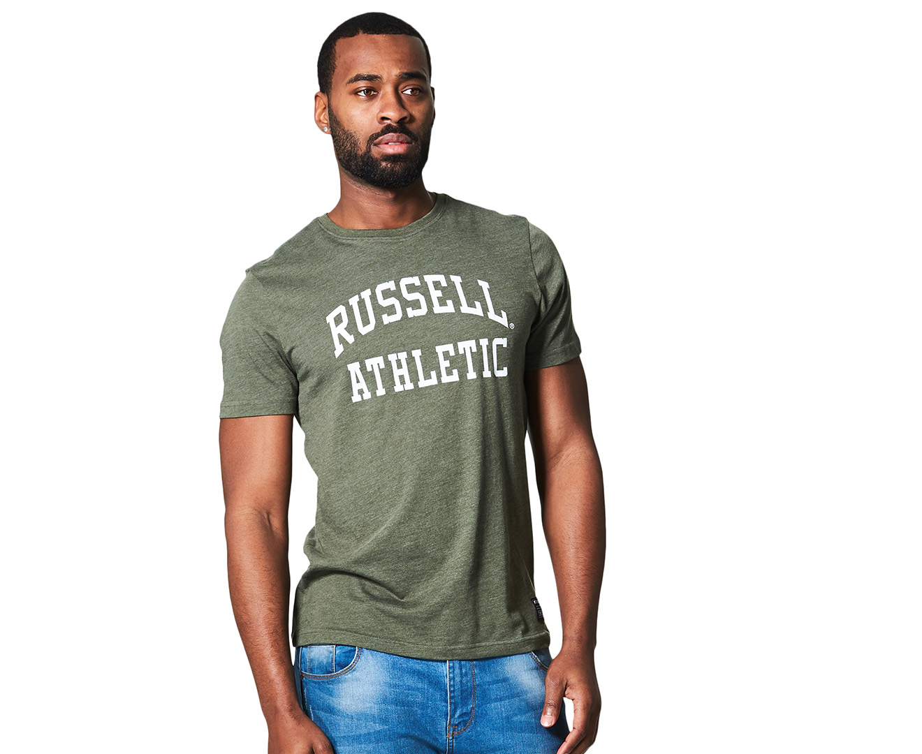 Russell Athletic Menu0027s Arch Tee   Khaki Marle | Great Daily Deals At  Australiau0027s Favourite Superstore | Mumgo.com.au
