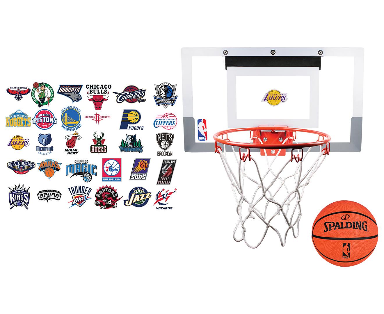 Spalding NBA Slam Jam 18 Inch Basketball Backboard w/ Team ...