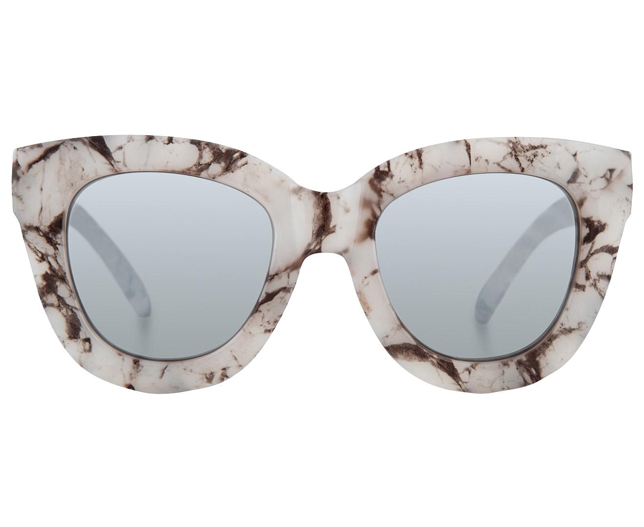 d5dd636399 Quay Australia Women s Sugar And Spice Sunglasses - White Marble Silver