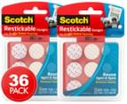 2 x Scotch Restickable Single-Sided Adhesive Dots 18-Pack 1