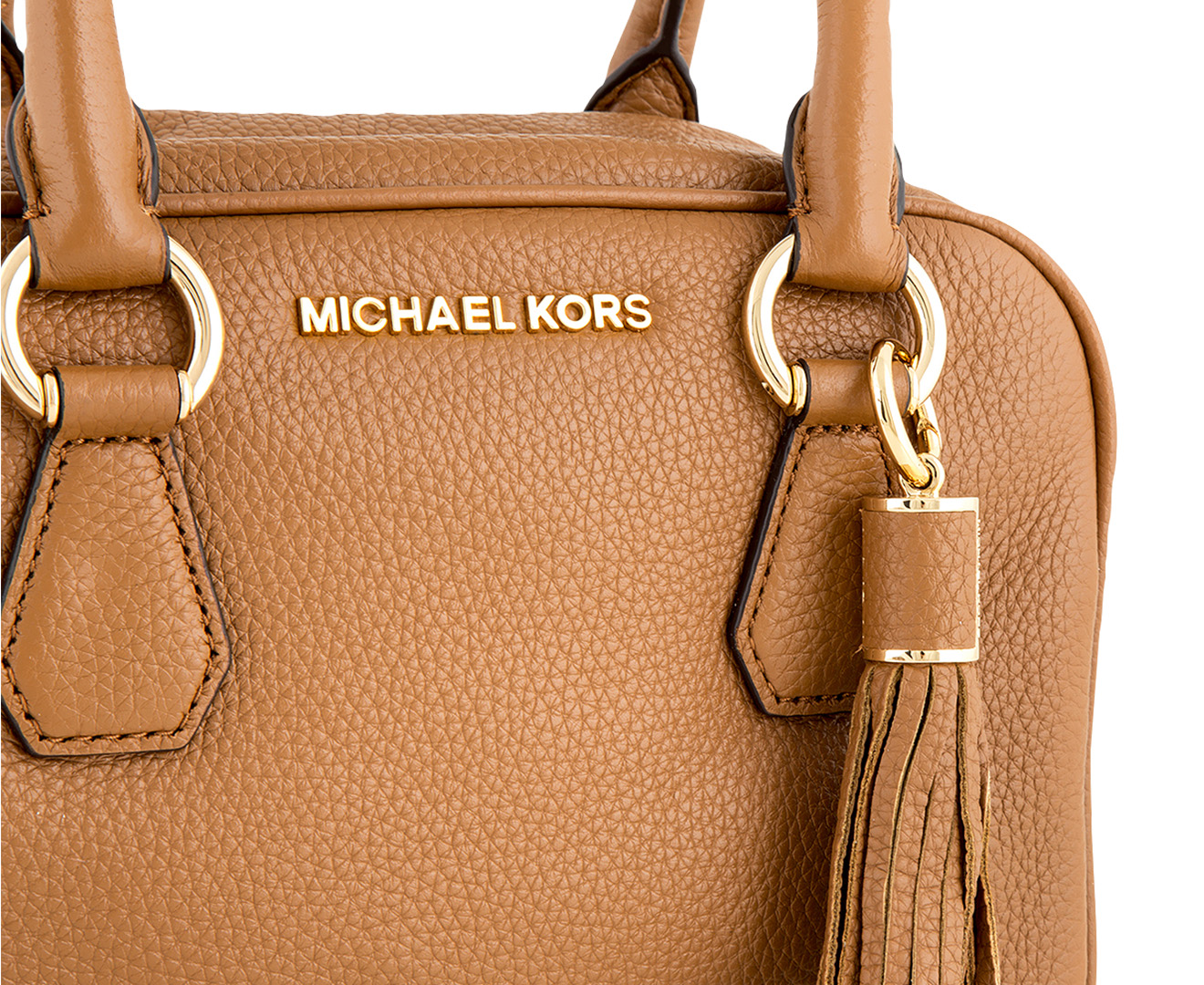 5a920cb4a8e3 82686 85194; authentic michael kors bedford small tassel leather satchel  acorn mamamia shopping 673b9 7afe6