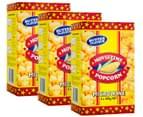 3 x Movietime Microwave Popcorn Butter 100g 3pk 1