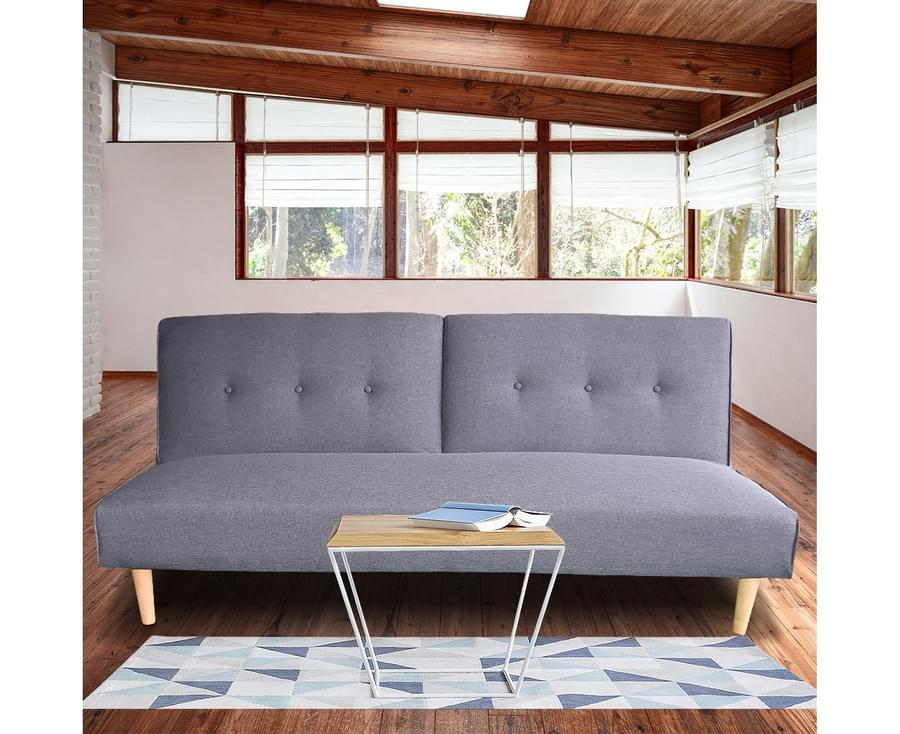 Modular Linen Fabric Sofa Bed Couch Lounge Futon