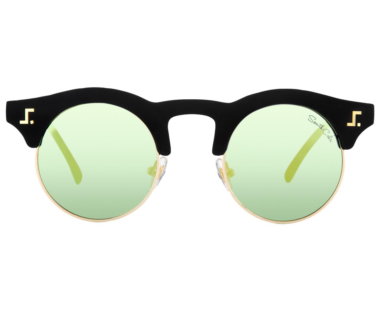 8055beacc8 South Cali Venice Polarised Sunglasses - Matte Black Palm Green Mirror