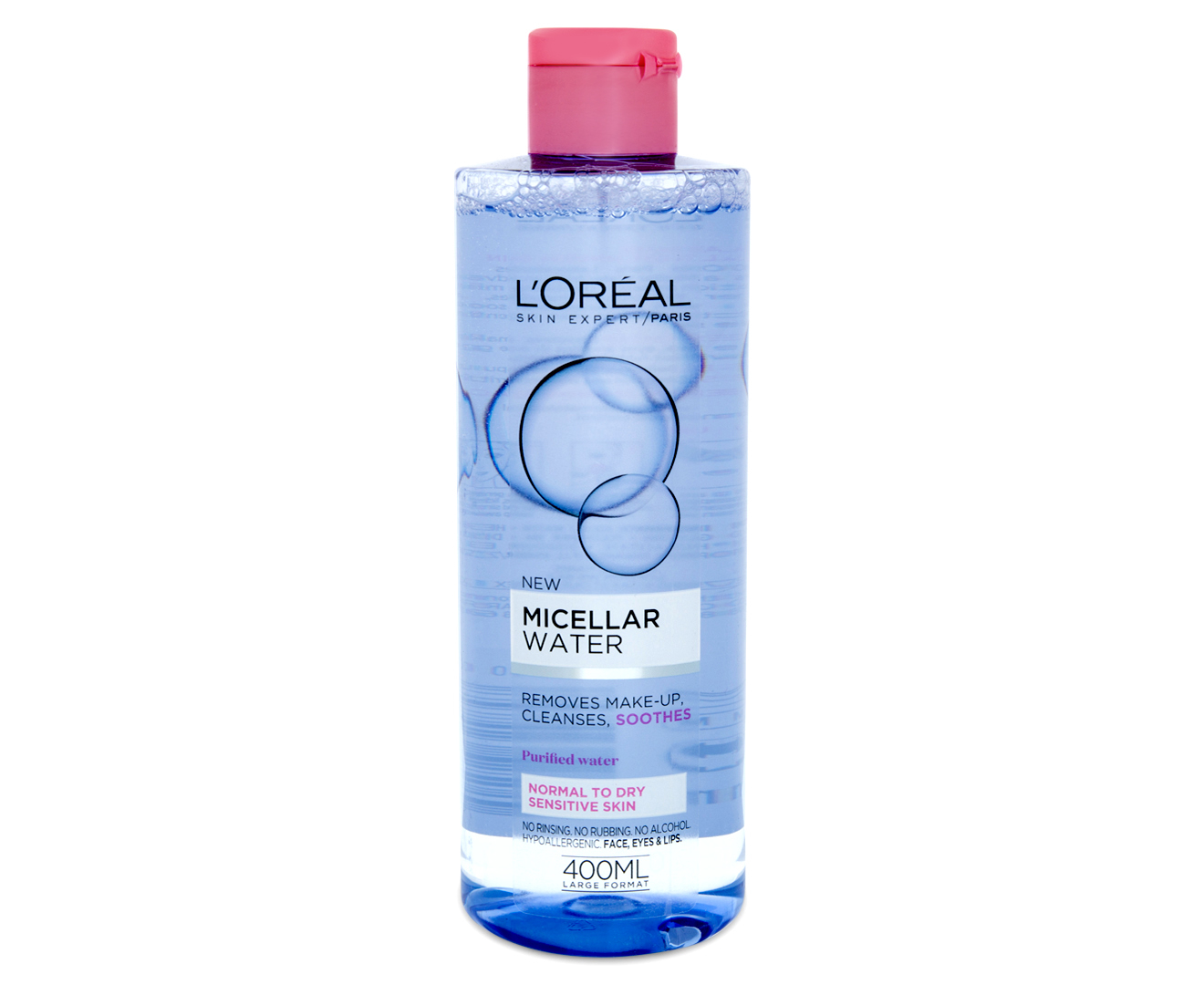 2 x L'Oréal Micellar Water Soft 400mL
