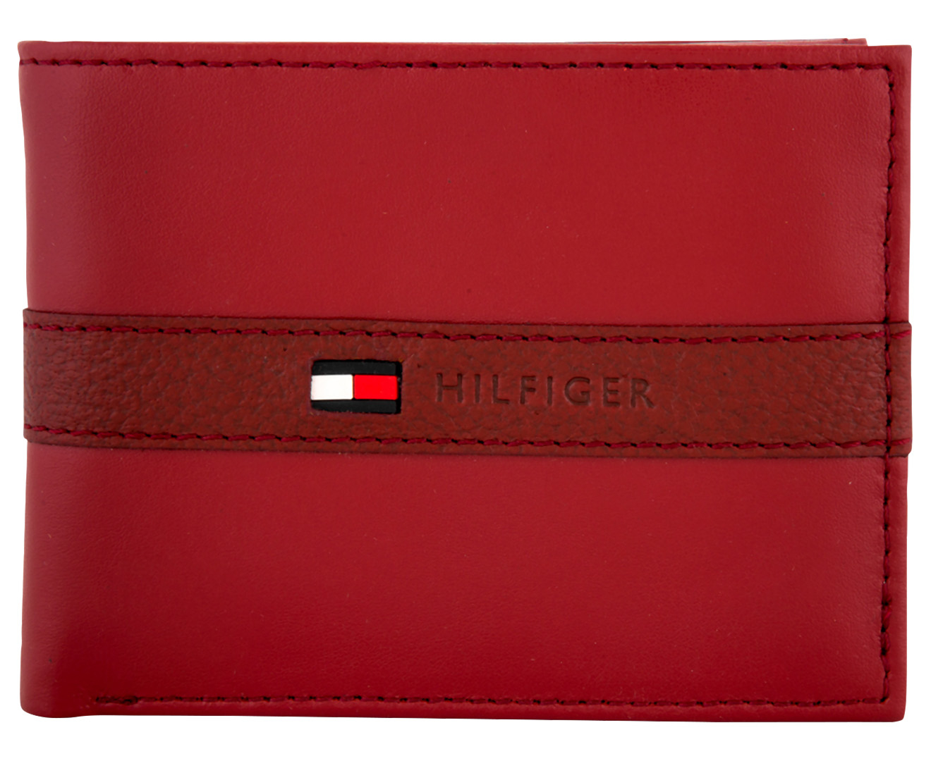 Tommy Hilfiger Men/'s Leather Ranger Passcase Wallet