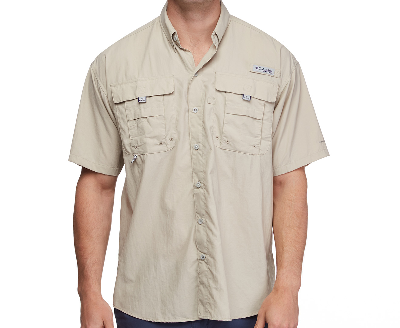 Columbia men 39 s short sleeve bahama shirt fossil great for Baby fishing shirts columbia