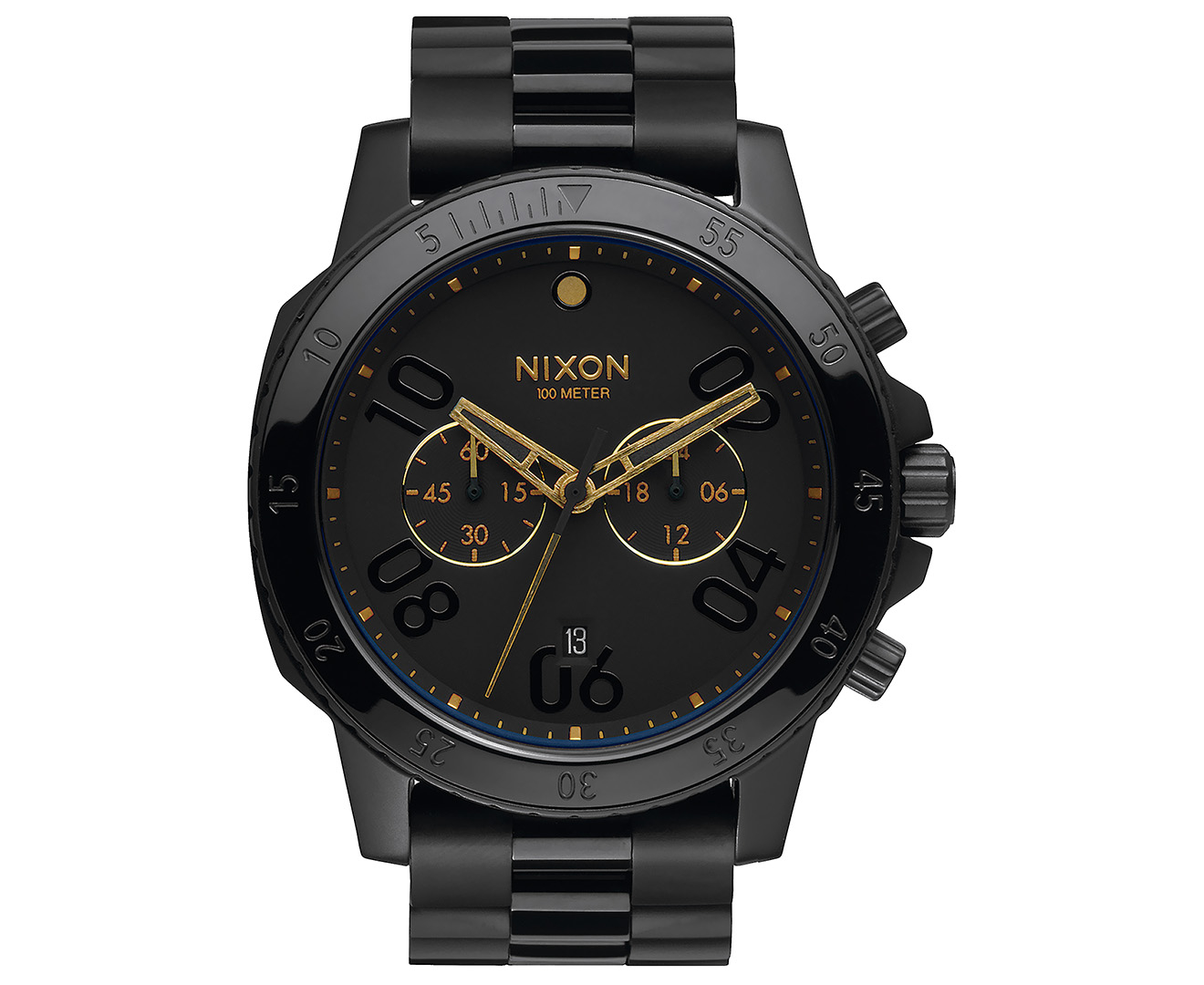 Nixon Men S 44mm Ranger Chrono Watch Black Black