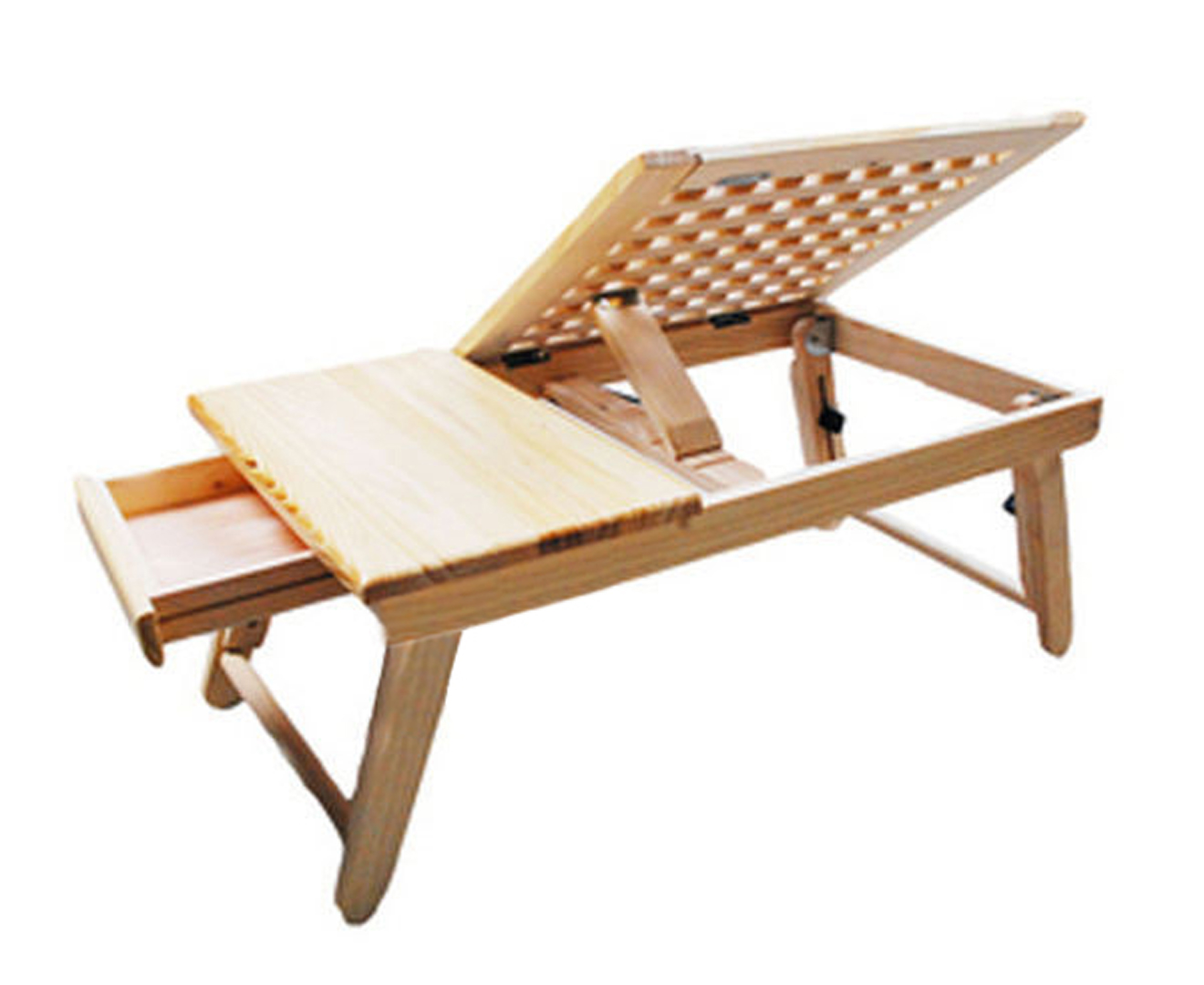 Adjustable Portable Notebook Bed Desk Table Wooden Folding