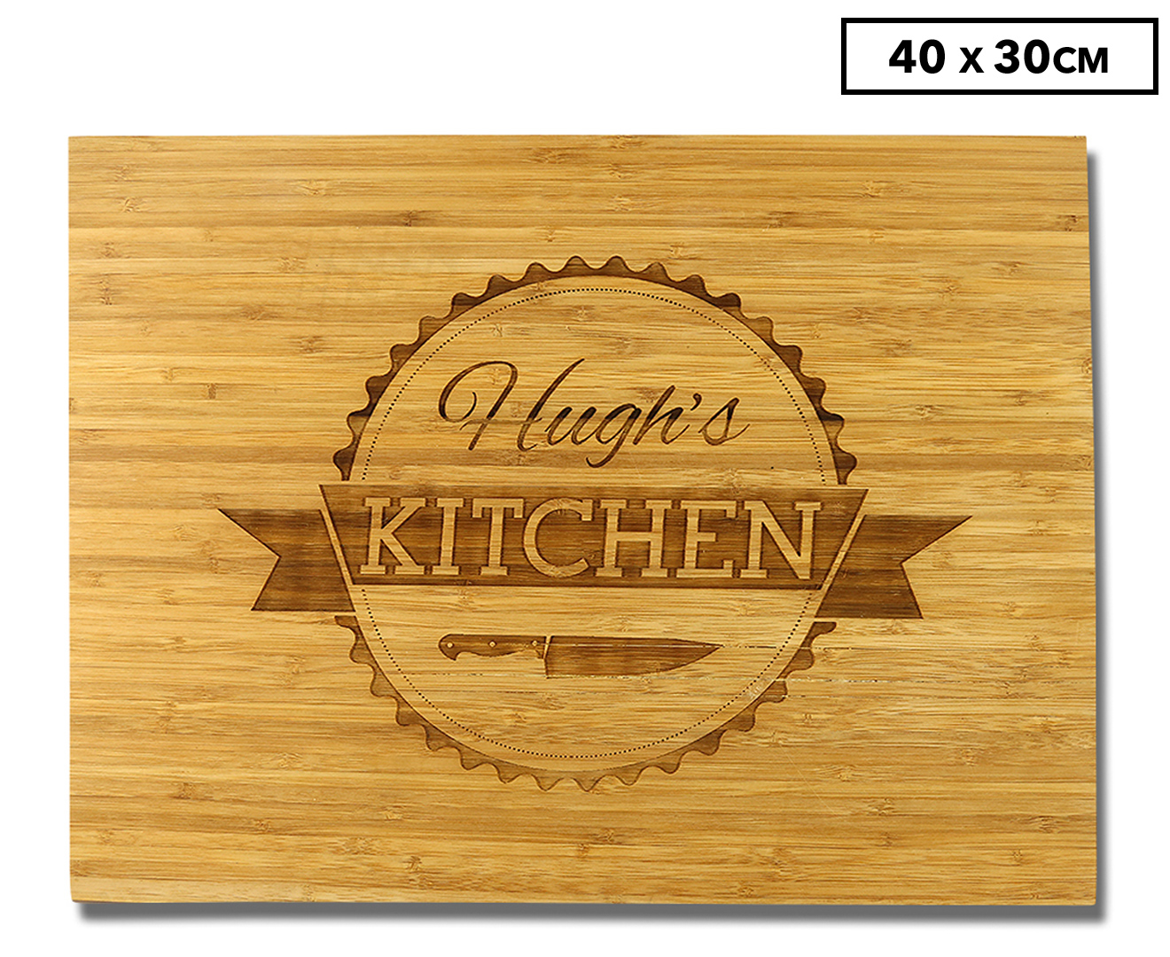 Personalised 40x30cm Bamboo Chopping Board - Large   Great ...