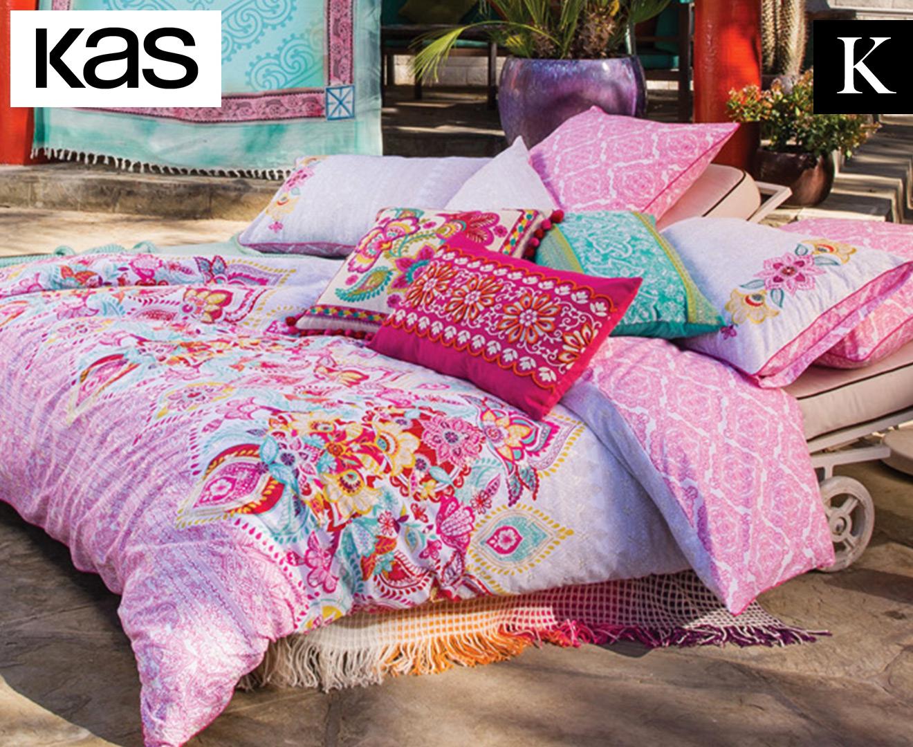 KAS Varana Reversible King Bed Quilt Cover Set - Multi