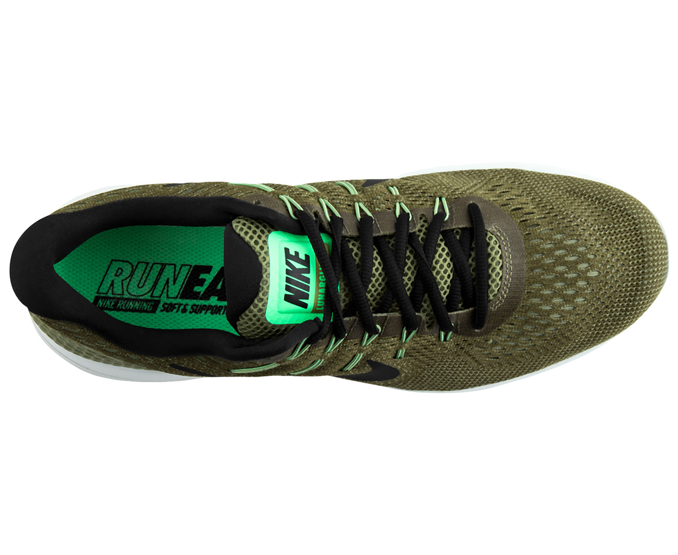 best service 8d83e cfc66 Nike Men s LunarGlide 8 Shoe - Palm Green Black   Catch.co.nz