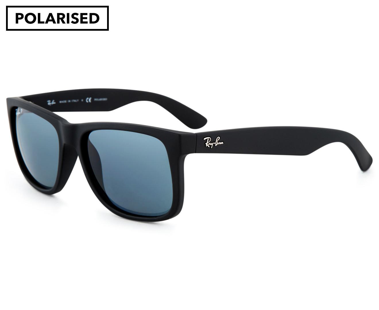 702213e65a Ray-Ban Justin RB4165 Polarised Sunglasses - Black Blue Classic ...