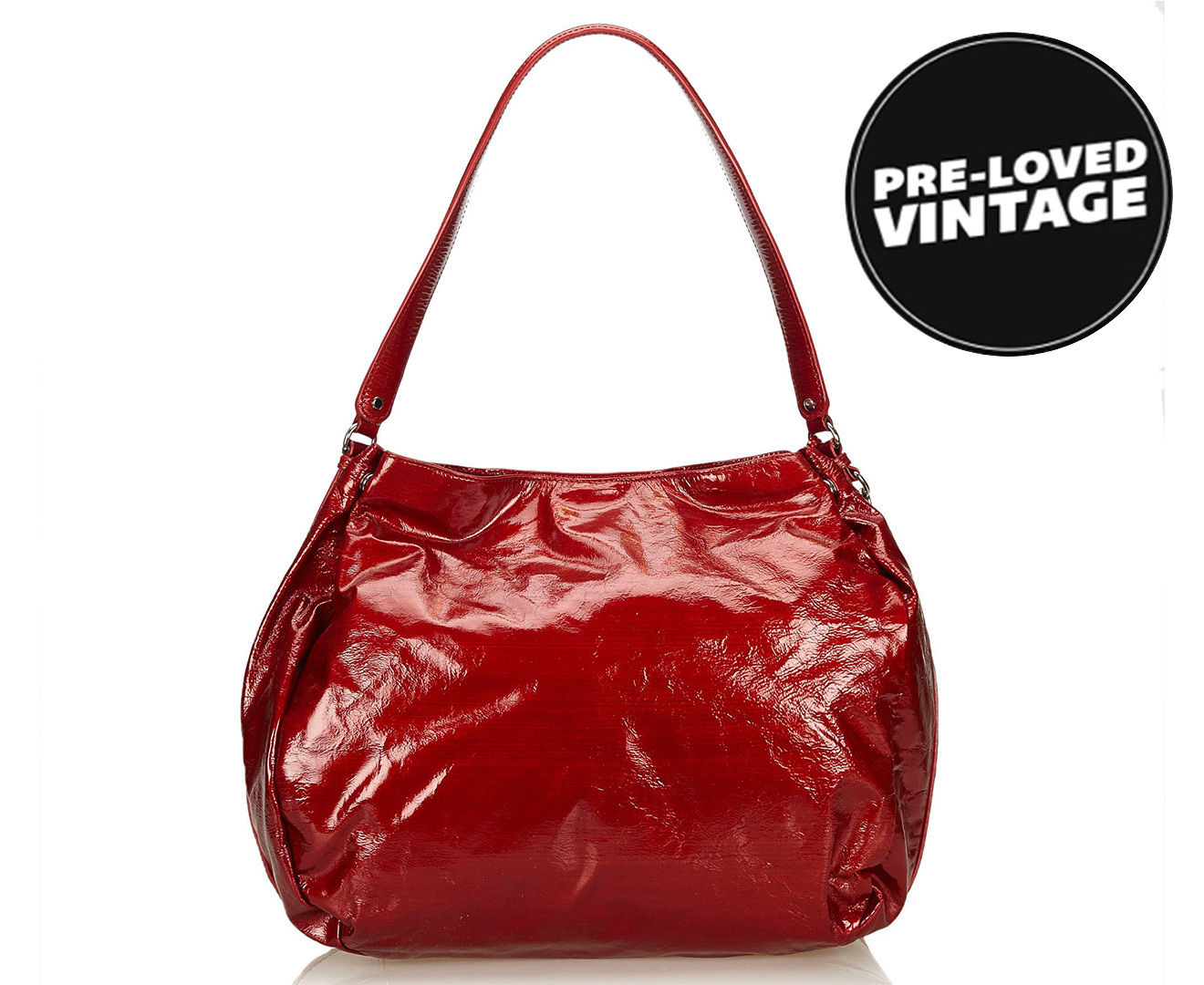 475075f5f25c Pre-Loved Celine Patent Leather Shoulder Bag 7JCESH003 - Red | Scoopon  Shopping