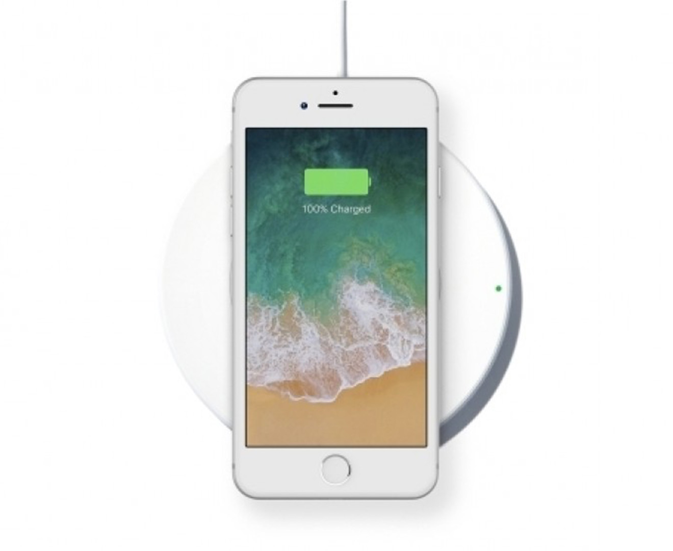 belkin boost up qi wireless charging pad for iphone x 8 8 plus white scoopon shopping. Black Bedroom Furniture Sets. Home Design Ideas