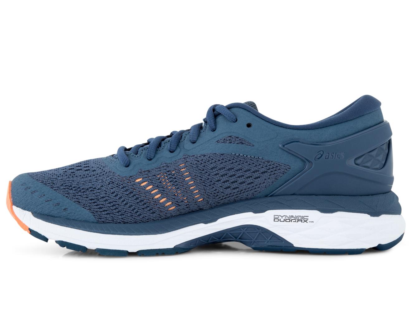 Asics Women S Gel Kayano 24 Shoe Smoke Blue Dark Blue