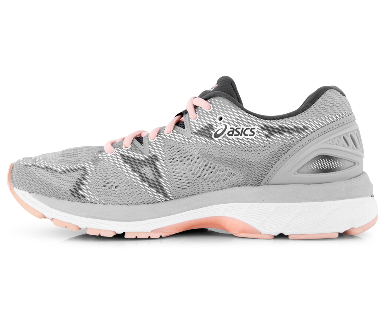 8cf30ff45179 ASICS Women s GEL-Nimbus 20 Shoe - Mid Grey Seashell Pink