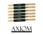 Axiom Drumsticks - 5A Maple Wood Tip 6 PACK 1