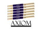 Axiom Drumsticks - 7A Maple Wood Tip 6 PACK 1