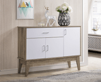 Extra Large Shoe Cabinet Storage Scandinavian - Oak 1