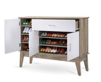 Extra Large Shoe Cabinet Storage Scandinavian - Oak 4