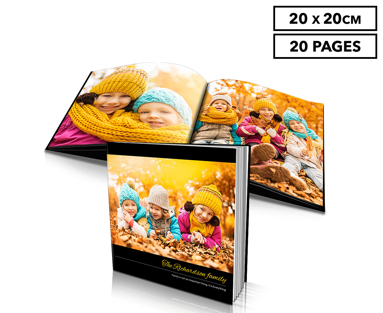 Personalised 20 x 20cm Soft Cover Photo Book - 20 Pages | Catch.com.au