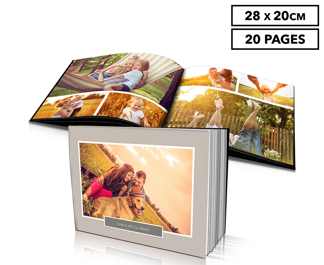 Personalised 28x20cm Hard Cover Photo Book - 20 Pages ...