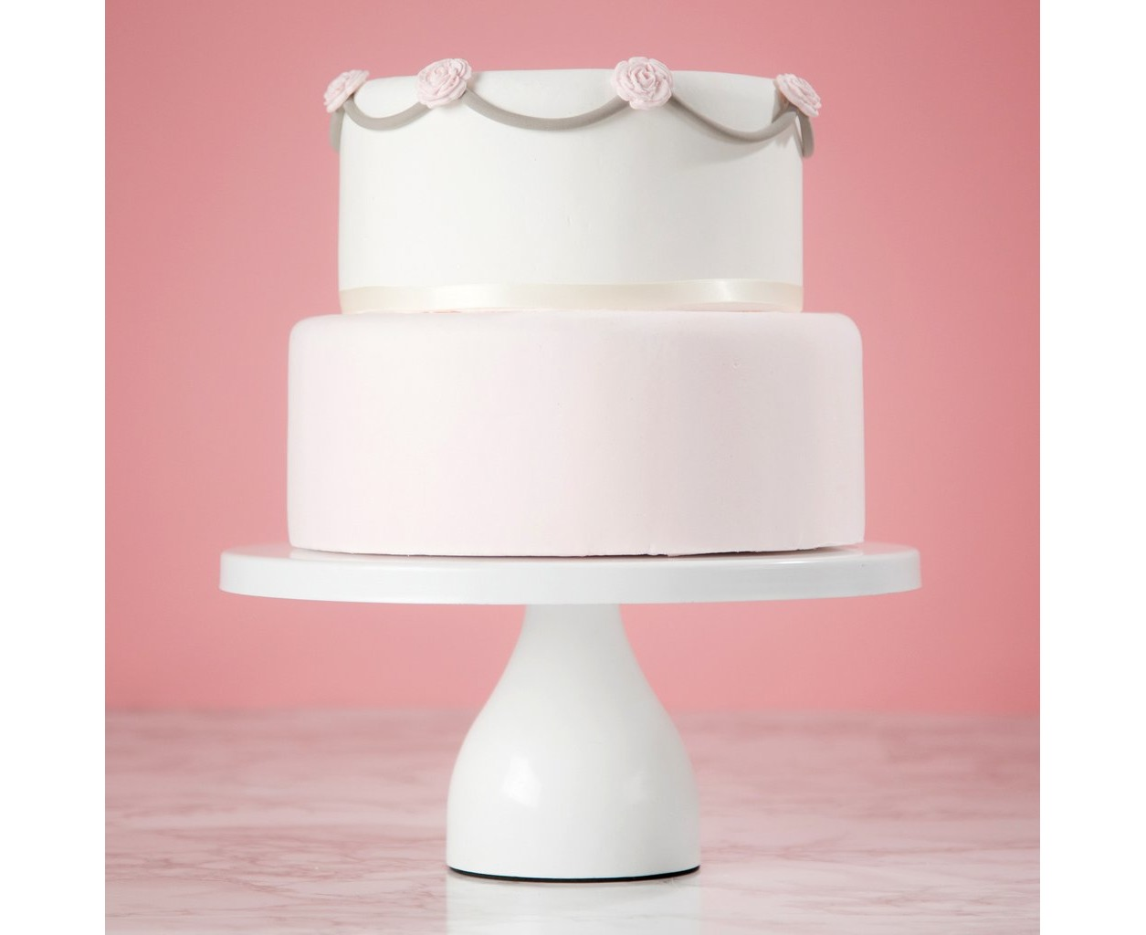 30 cm (12-inch) Round Modern Cake Stand | White | Jocelyn Collection ...