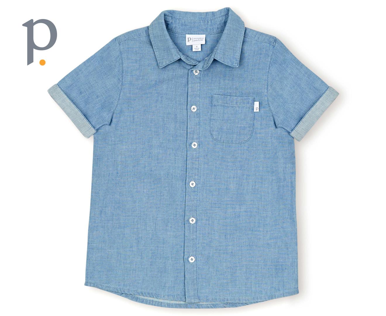 Lyocell shirt chambray ebay for Chambray shirt for kids