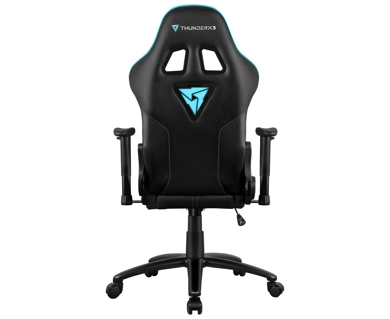 Thunderx3 Rc3 Hex Rgb Lighting Gaming Chair Black Cyan