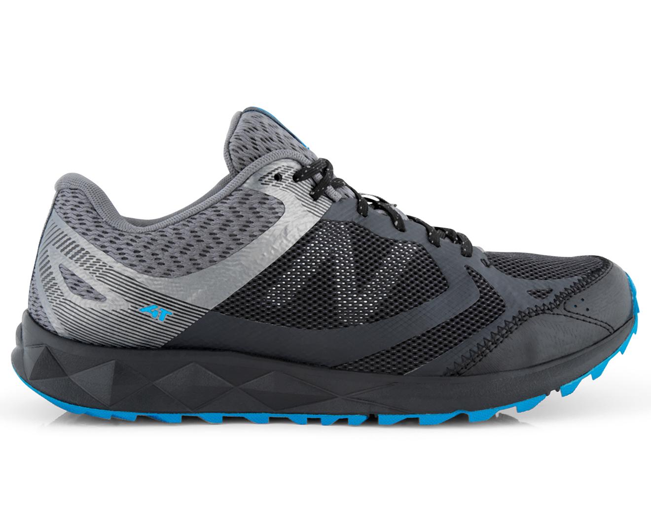 New Balance Men's 590 V3 2E Wide Fit Trail Shoe Black/Castlerock/Bolt