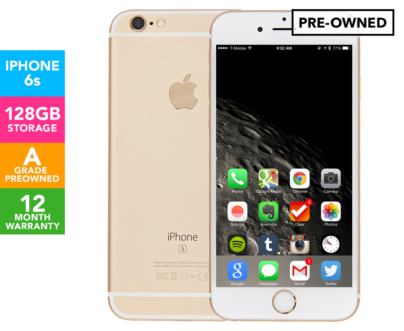 iphone 6 pre owned apple iphone 6s 128gb gold a grade pre owned catch 1697