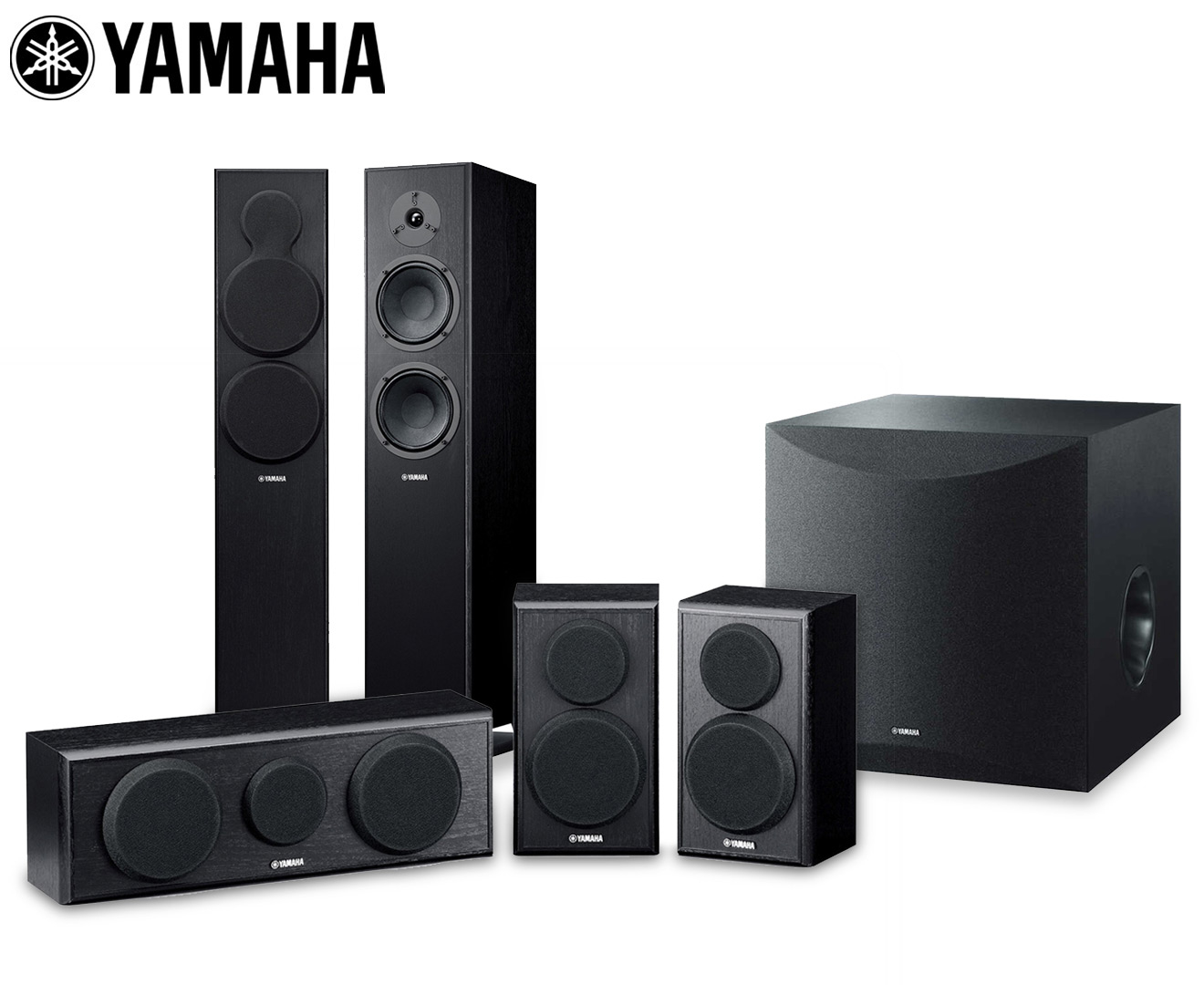 Yamaha 5 1 Channel Tower Speaker Pack Subwoofer Catch