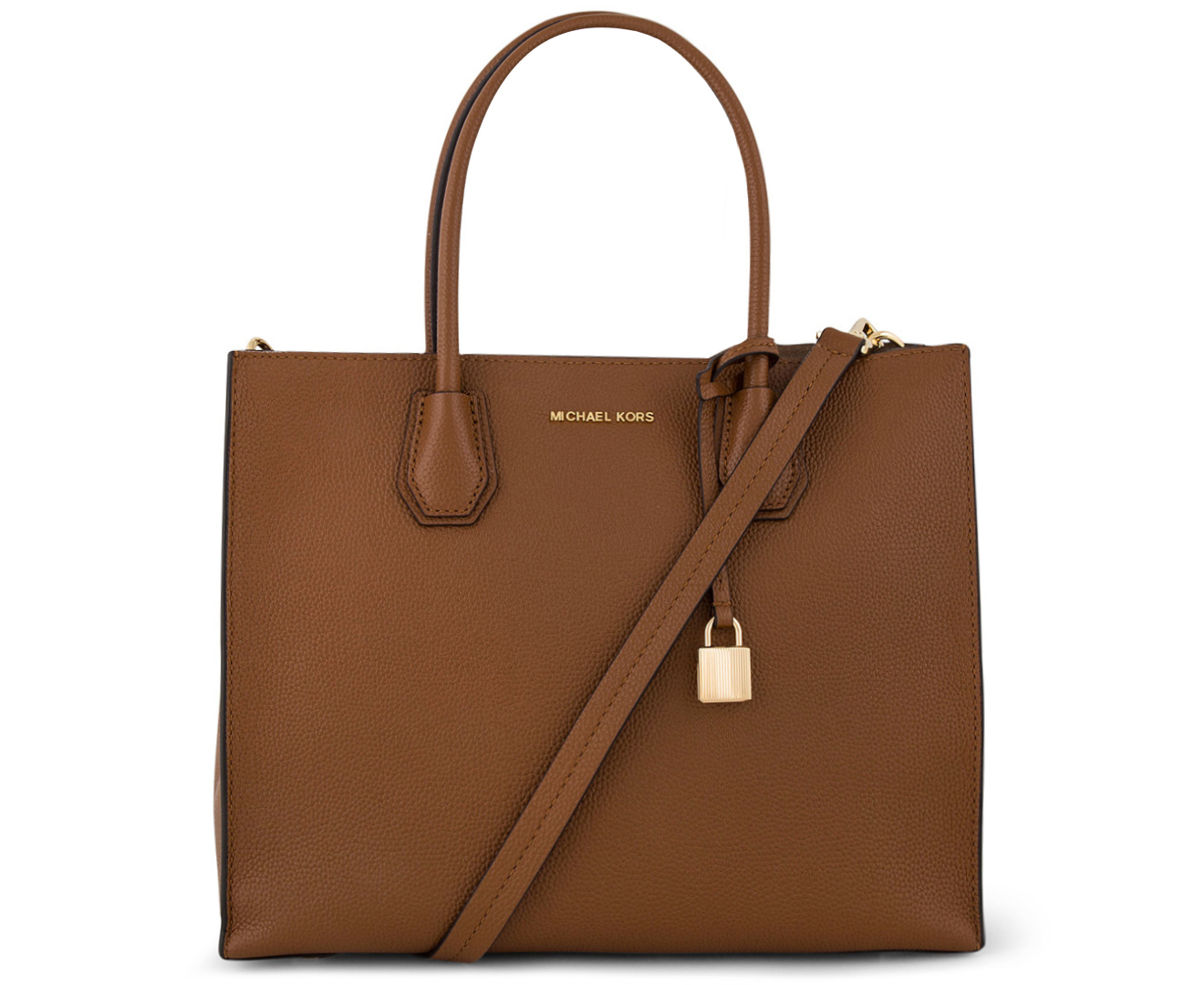 7cffdac84494 Michael Kors Mercer Large Bonded-Leather Crossbody Bag - Brown |  Catch.com.au