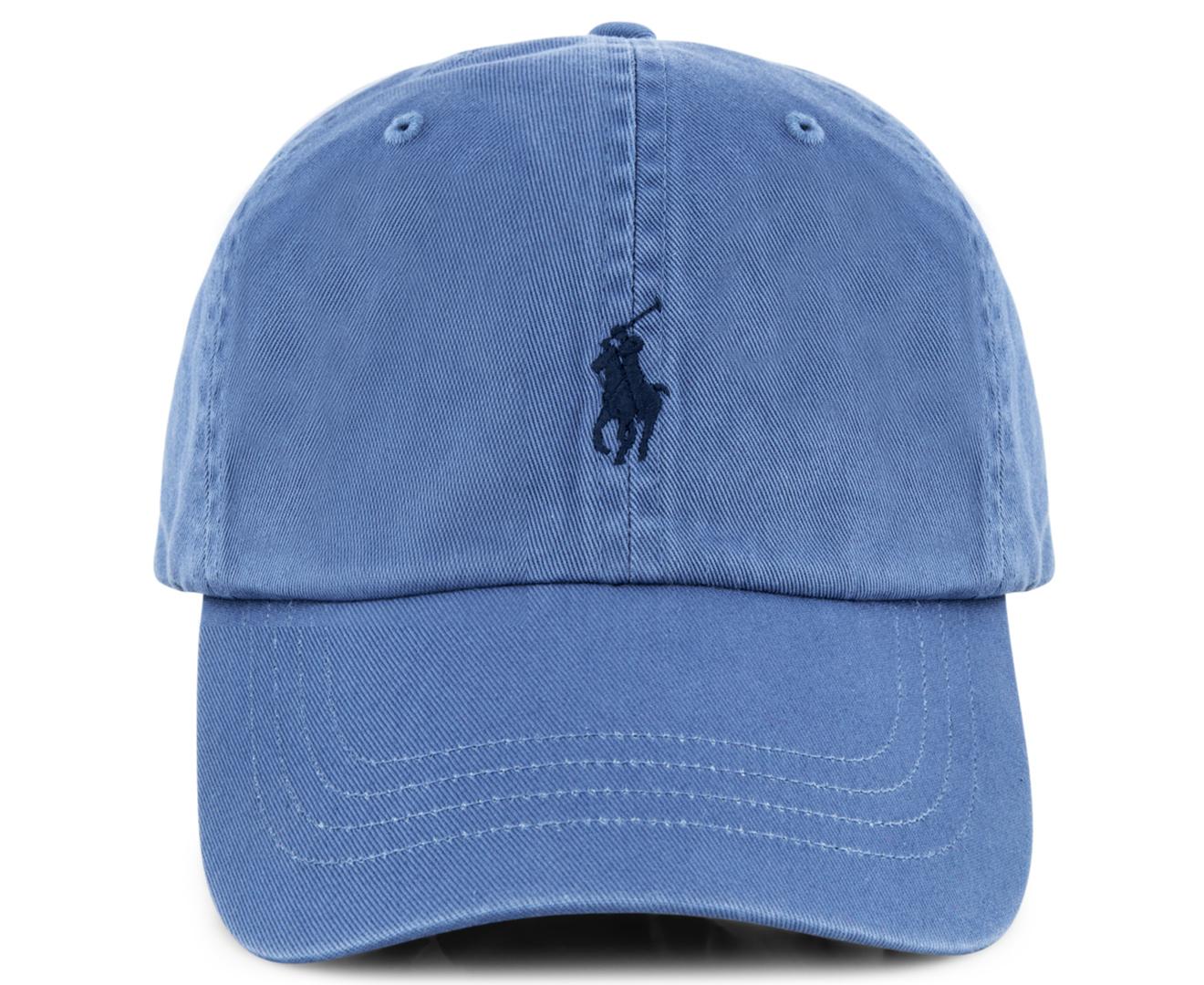 Polo Ralph Lauren Logo Baseball Cap - Blue 712168035465  91a8102f391
