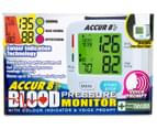 Accur 8 Blood Pressure Monitor w/ Colour Indicator & Voice Prompt  6