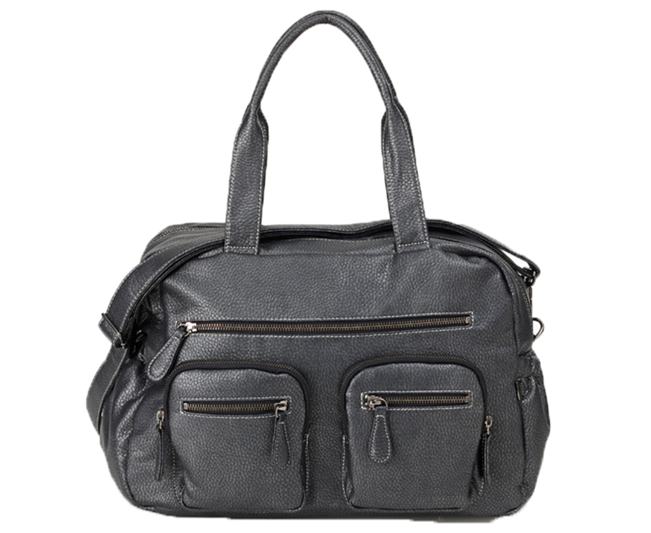 Oioi Faux Buffalo Carry All Nappy Bag Charcoal Great